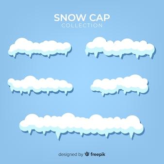 Collection de chapeaux de neige dessinés à la main