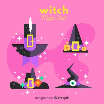 Collection de chapeaux de sorcière halloween