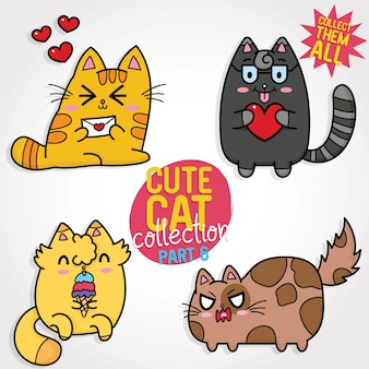 Collection de chat mignon