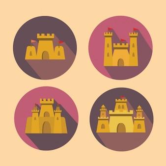 Collection de châteaux de sable