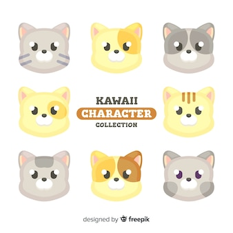 Collection de chats kawaii