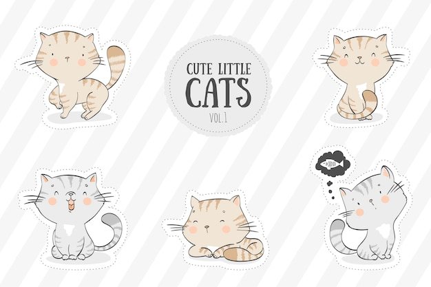 Collection de chats mignons