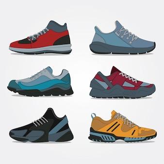 Collection chaussures de sport et de voyage