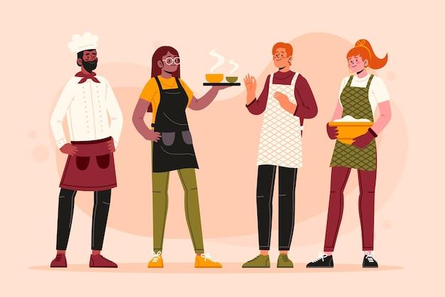 Collection de chef cuisinier