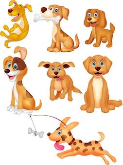 Collection de chiens de dessin animé