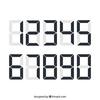 Collection de chiffres avec un style numérique