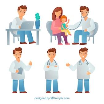 Collection de cinq médecins