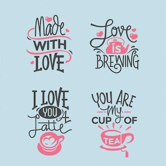 Collection de citations de lettrage saint valentin