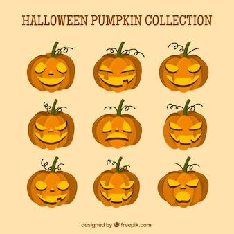 Collection de citrouille d'halloween