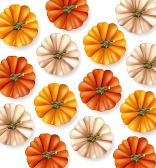 Collection de citrouilles d'automne