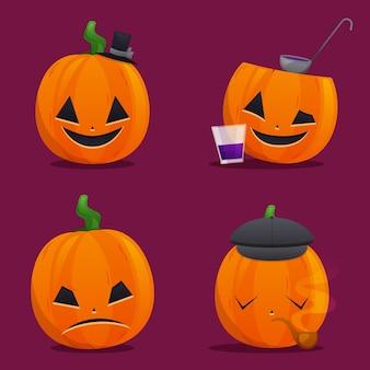 Collection de citrouilles d'halloween