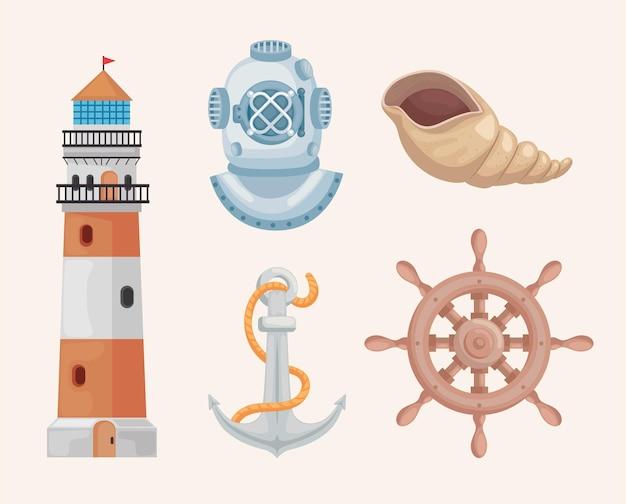 Collection de clipart marine