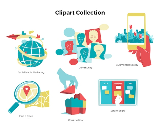 Collection clipart