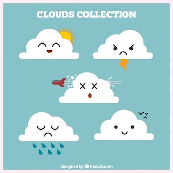 Collection cloud avec les éléments météorologiques