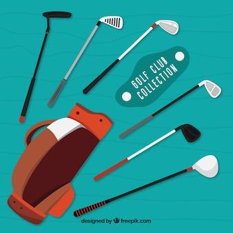 Collection de club de golf avec sac