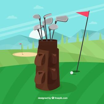 Collection de club de golf en sac