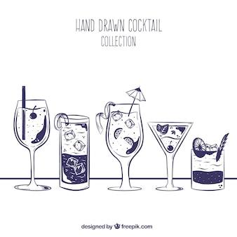 Collection de cocktail dessiné à la main