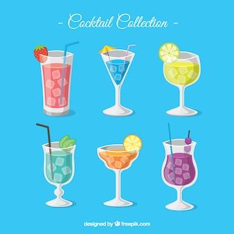 Collection de cocktails avec un design plat