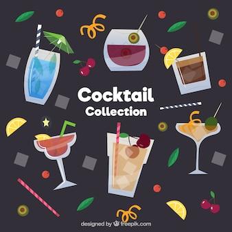 Collection De Cocktails Frais Dans Un Style Plat Vecteur gratuit