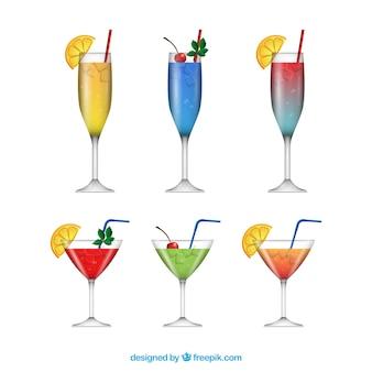 Collection de cocktails réaliste