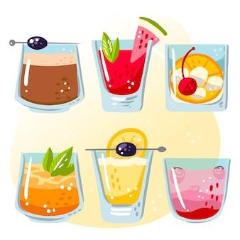 Collection de cocktails