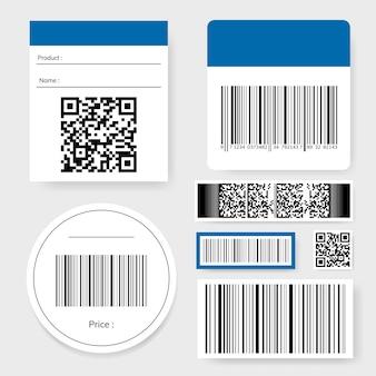 Collection de codes à barres et de codes qr