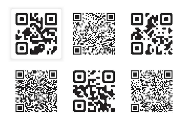 Collection de codes isolés sur gris