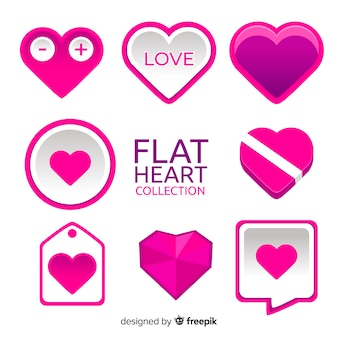Collection coeur plat