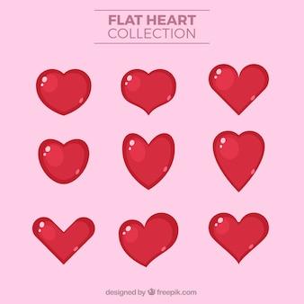 Collection de coeur rouge