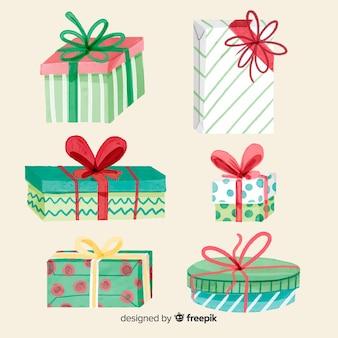 Collection de coffrets cadeaux aquarelle