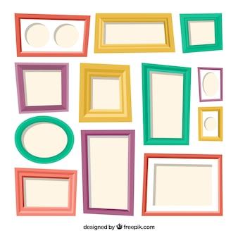 Collection de collage de cadre coloré