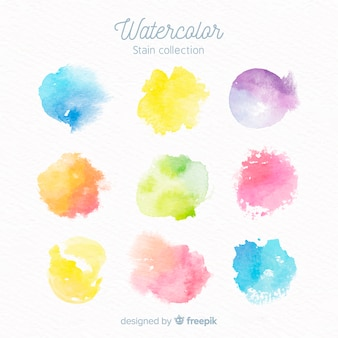 Collection de colorants aquarelle
