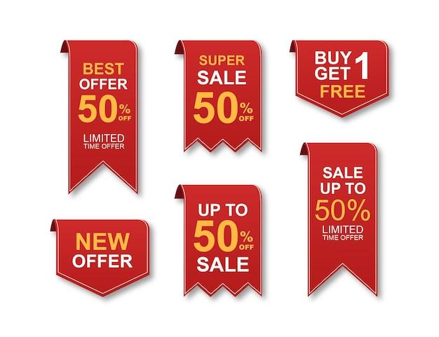 Collection colorée d'autocollants et étiquettes de vente moderne