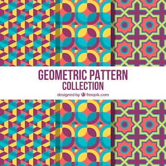 Collection colorée de motifs géométriques amusants