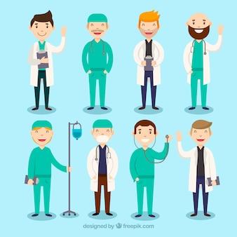 Collection complète avec divers médecins