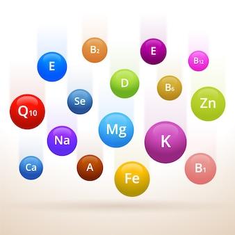Collection de complexes de vitamines et minéraux