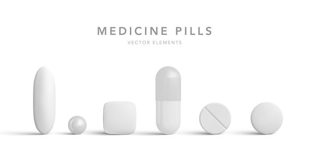 Collection de comprimés en forme de capsule
