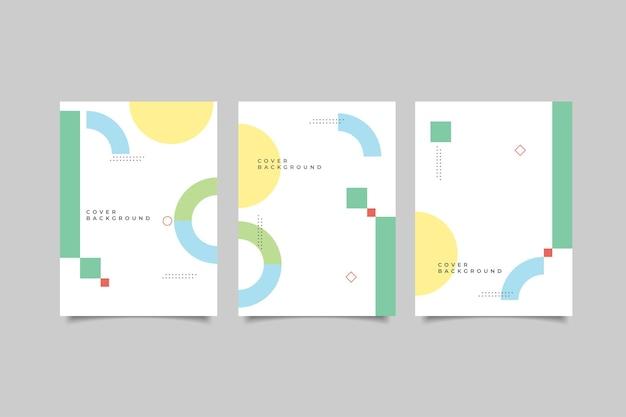 Collection de conception de couverture de memphis