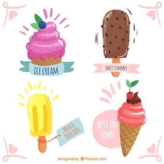 Collection de conception de crème glacée