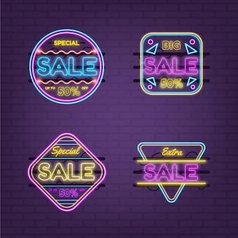 Collection de conception d'enseignes de vente au néon