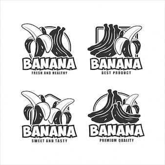 Collection de conception fraîche et saine de banane