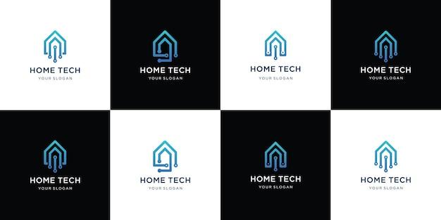 Collection de conception de ligne de maison
