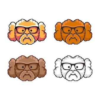Collection de conception de logo de chien mignon