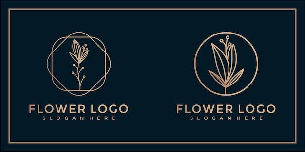 Collection de conception de logo de fleur