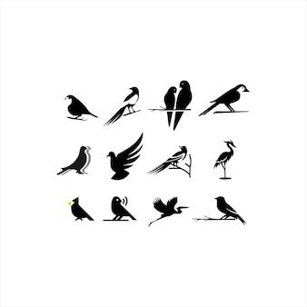Collection de conception de logo d'oiseau