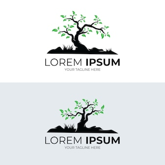 Collection de conception de modèle de logo arbre