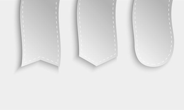 Collection de conception de produits promotionnels en ruban sur blanc