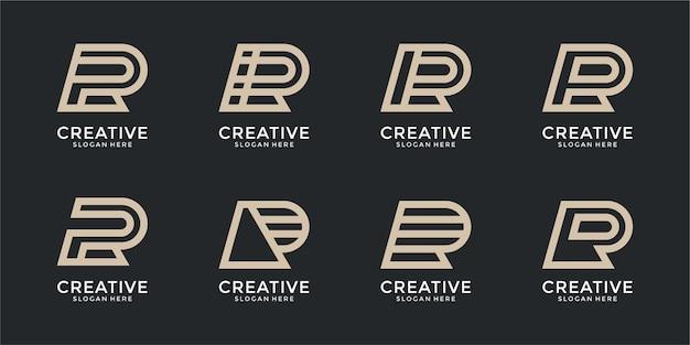 Collection de conceptions de logo abstrait lettre r
