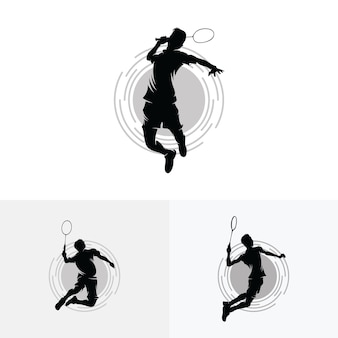 Collection de conceptions de logo badminton smash