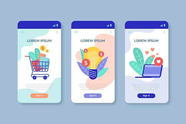Collection de concepts d'application différents